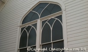 Churches in Parker Ruth Chapel window mainstreet town of parker co