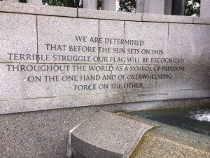 World War II Memorial: General George Marshall quote