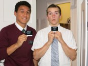 Elder Lamb and Elder Lam (my Zone Leader and I on our exchange)