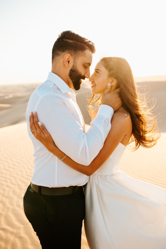 intimate sand dunes engagement session