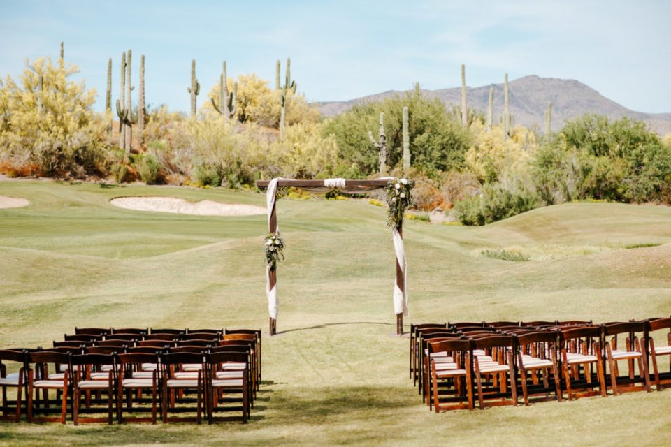 Wedding Arch at Tonto Bar and Grill