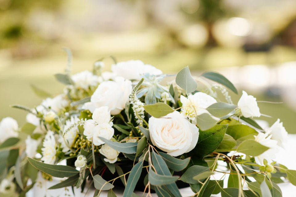 sage and white wedding bouquet