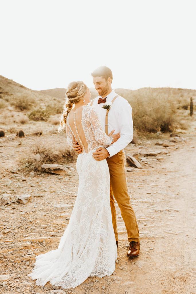 Boho desert bridal session