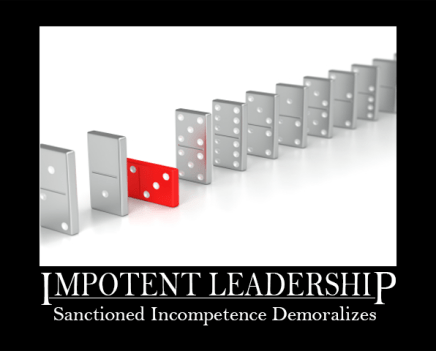 Sanctioned Incompetence Demoralizes