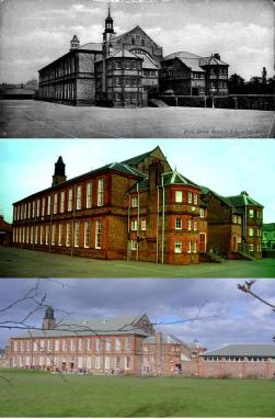 The school in 1895, 1995 and 2005