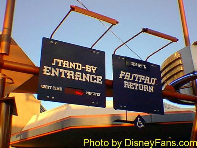 Space Mountain 1999 FastPass.