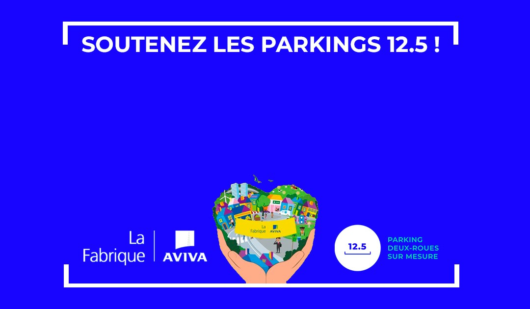 AVIVA x 12.5 : Une plateforme de stationnement pour deux-roues qui favorise l'essor des néo-mobilités !