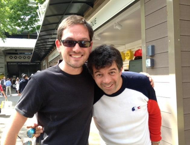 Rencontre avec S.Plaza à Roland-Garros