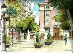 Acuarela Passeig Eres Santa Llúcia