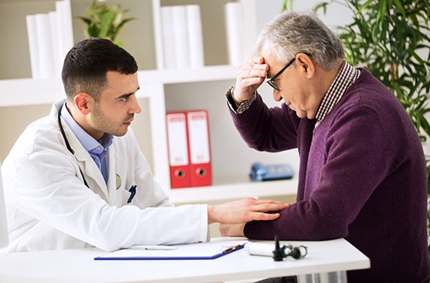 a doctor tell a patient that they have parkinson's