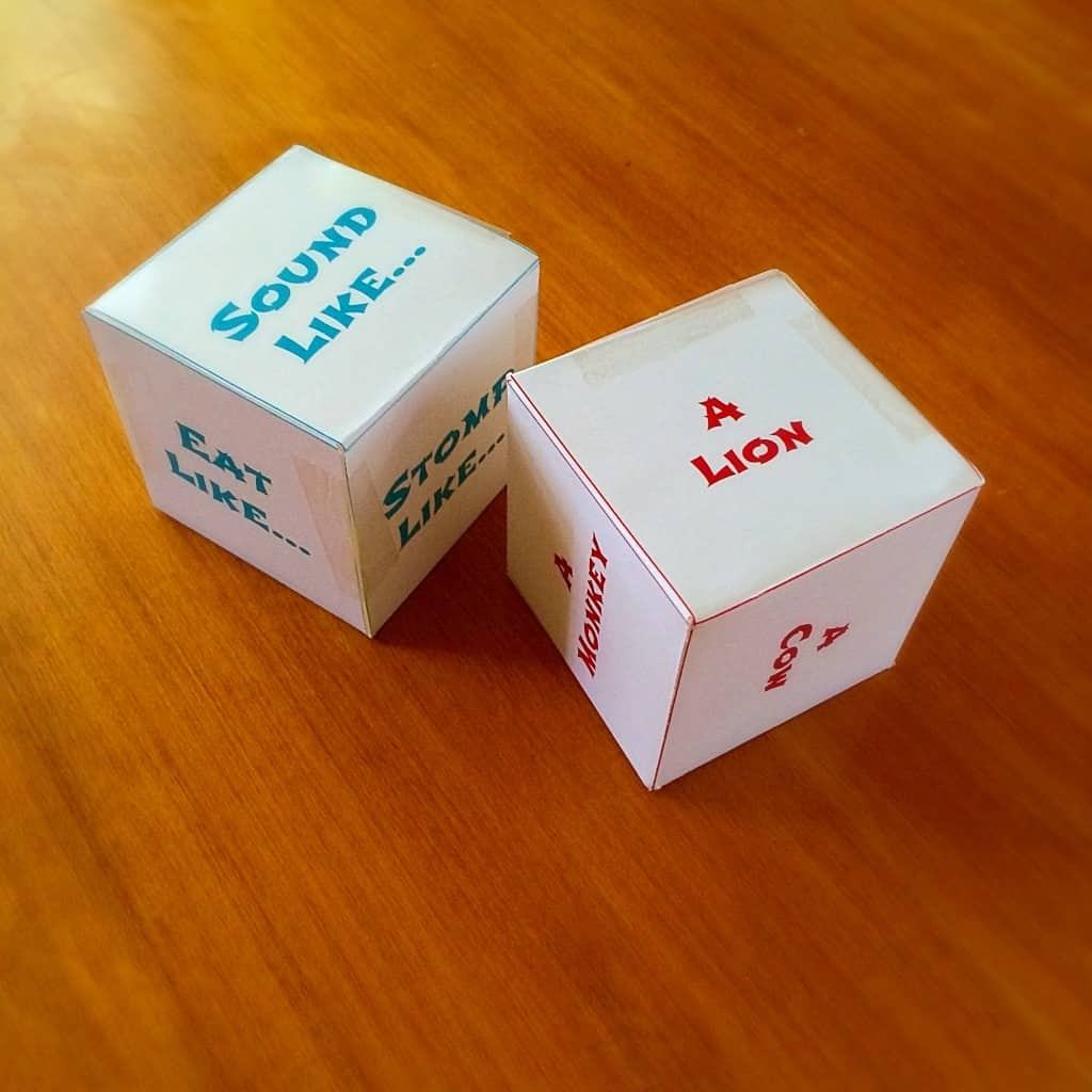 Activity Dice Animal Actions