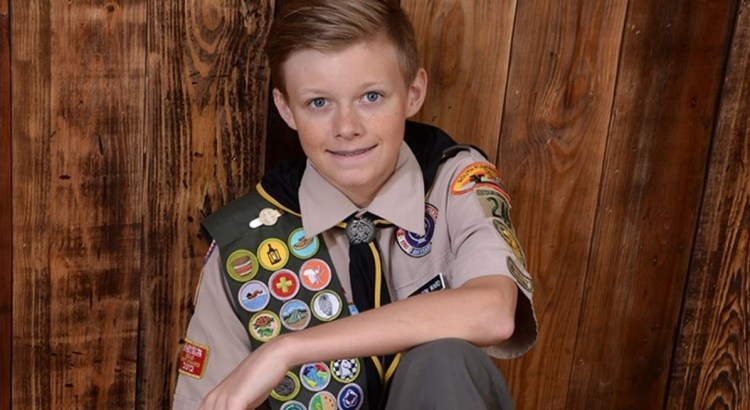 Parkland Resident Earns Coveted Eagle Scout Award at 14