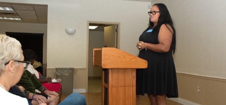 School Board Candidate Tennille Doe-Decoste Addresses Local Democratic Club