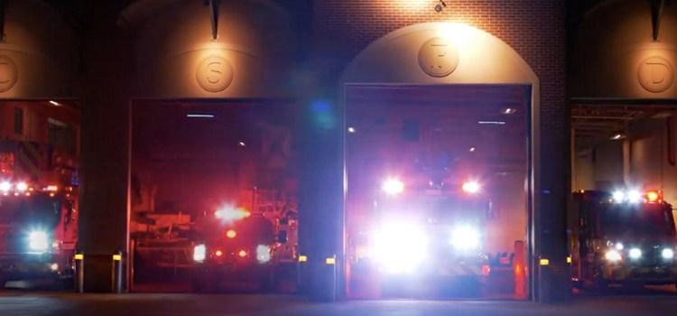 Coral Springs-Parkland Fire Trucks Light Up To Holiday Music