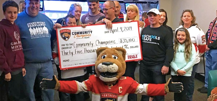 Florida Panthers Continue to Assist Parkland Nonprofits
