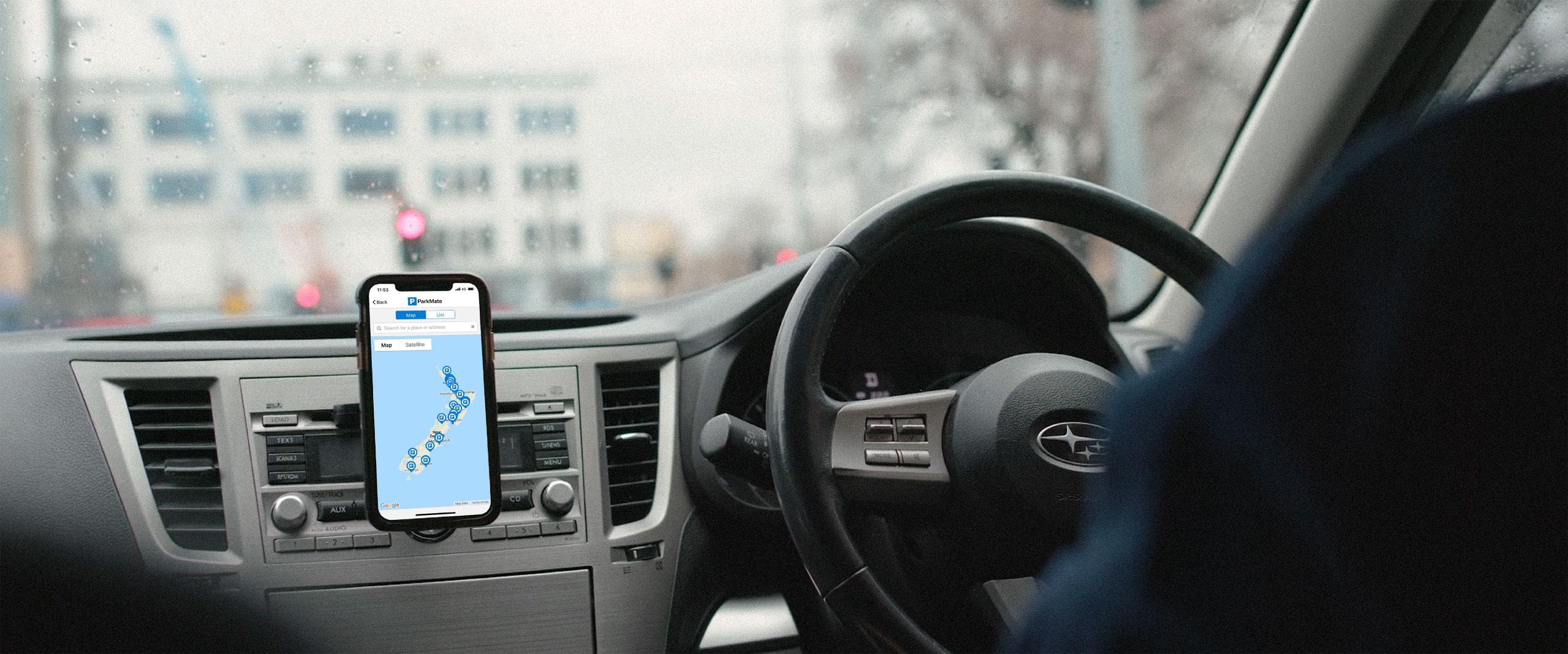 ParkMate in Car
