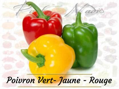 Poivron Vert Jaune Rouge