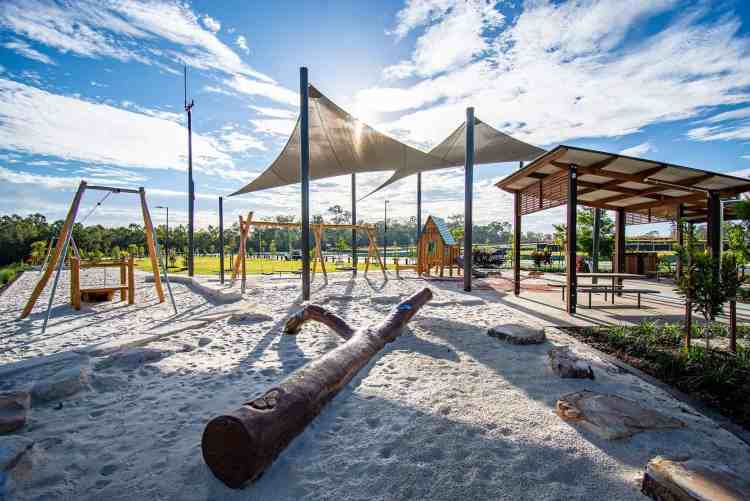 """Carvers Reach - """"a beautiful new play area in Park Ridge."""" Image displayed on the Park Ridge News Photo Gallery. Photo by Kyle Marsden."""