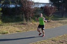 Looking happy coming into the finish - Ginninderra (39)