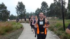 Leading a parkrun conga - The Ponds (41)