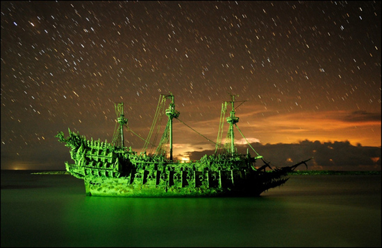 Flying Dutchman Ship by Kent Phillips