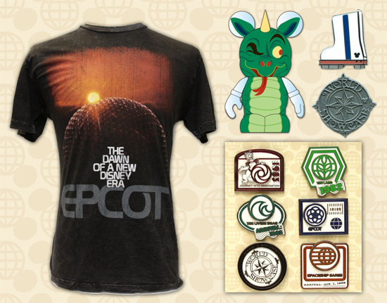 Retro-Inspired Shirts, Disney Pins and a Vinylmation Park Series Figure for Epcot's 25th Anniversary