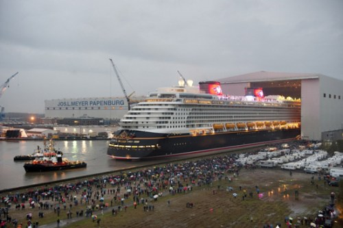The Disney Dream Floats Out in Papenburg, Germany