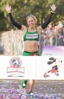 Women's Marathon Winner: Leah Thorvilson of Arkansas