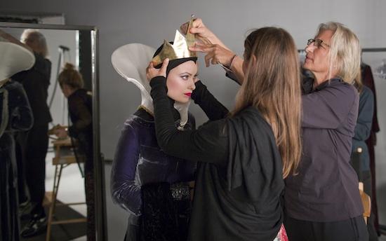Olivia Wilde Preparing for the Evil Queen Photo Shoot
