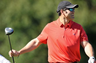 Johnny Damon of the Tampa Bay Rays Golfing at Walt Disney World Resort