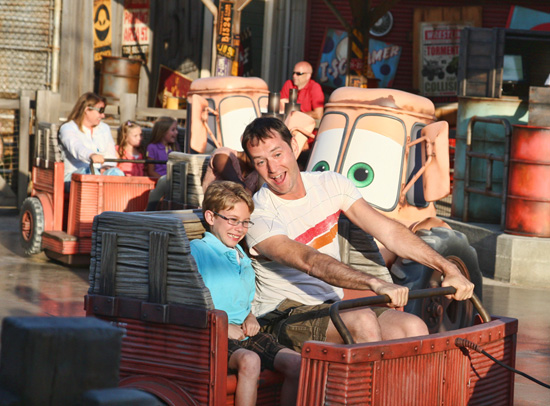 Mater's Junkyard Jamboree in Cars Land at Disney California Adventure Park