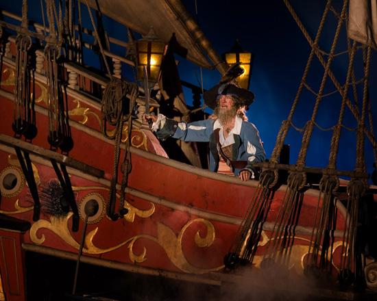 Captain Barbossa in Pirates of the Caribbean at Magic Kingdom Park