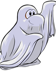 Club Penguin Halloween Party - Ghost Sheet Costume, Free for Disney Parks Blog Readers