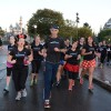 Jeff Galloway leading the run-walk-run group through Disneyland.