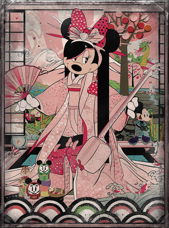 'Kimono Minnie' Artist Signing at WonderGround Gallery with Sean D'Anconia
