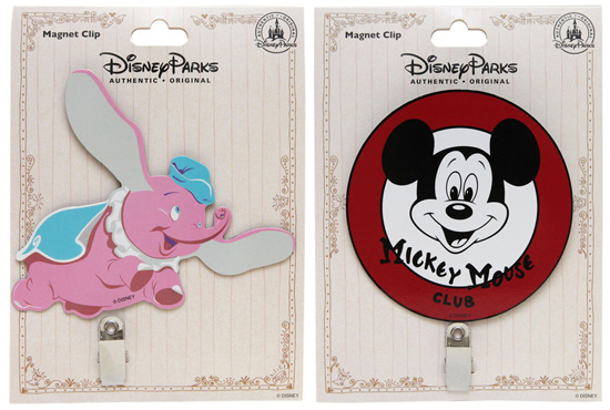 Dumbo and Mickey Mouse Club Magnets from Disney Parks