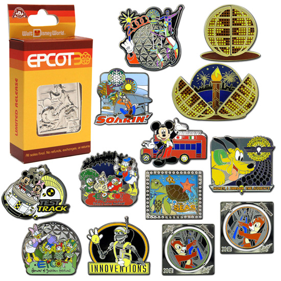 New 24 Pin Mystery Set Helps Continue the Epcot 30th Anniversary Celebration in 2013