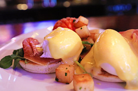 Eggs Benedict at Raglan Road Irish Pub & Restaurant Sunday Brunch at Downtown Disney Pleasure Island