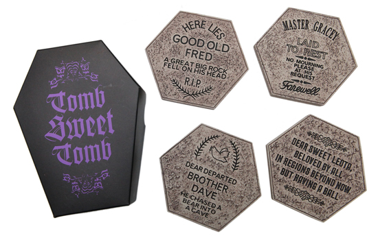 Coaster Set - Part of New Chilling, Thrilling Haunted Mansion Merchandise from Disney Parks