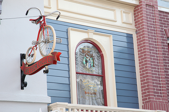 Windows on Main Street, U.S.A., at Disneyland Park: Bob Gurr