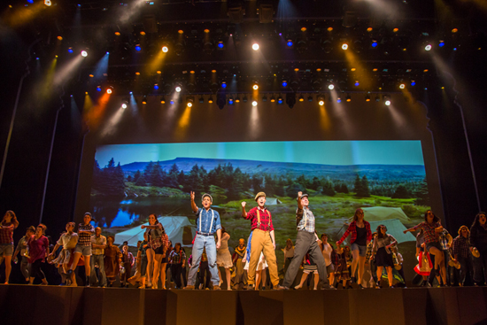 "The First ""More Than 250 Cast Members Participated in 'Flashback' at the Hyperion Theater at Disney California Adventure Park"