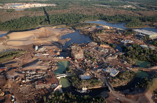 The Tree of Life at Disney's Animal Kingdom Under Construction in January 1997