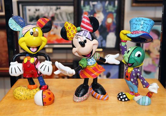 Figurines by Pop Artist Romero Britto at Disney Parks