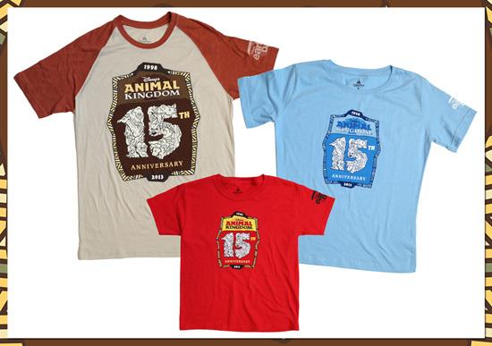 T-Shirts for the 15th Anniversary of Disney's Animal Kingdom