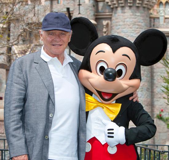 Anthony Hopkins Visits Disneyland Park