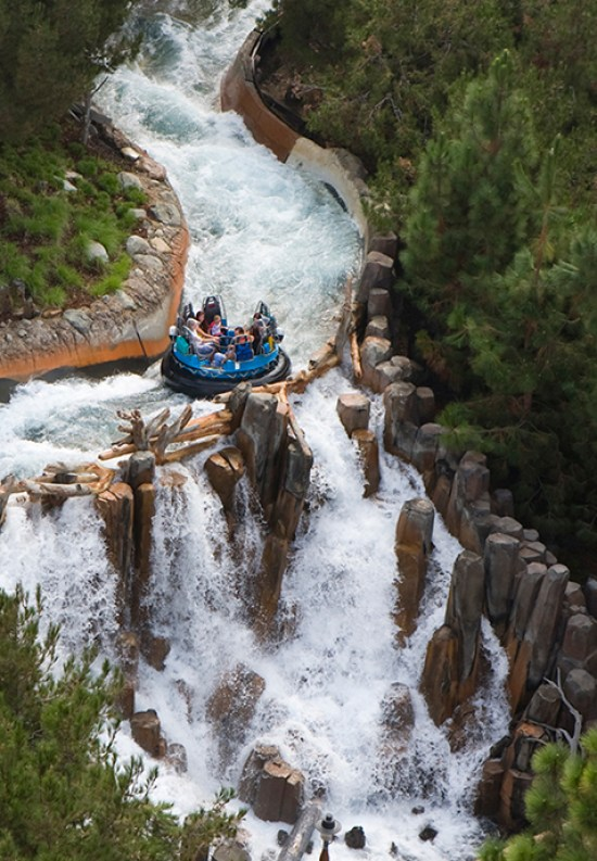 Grizzly River Run Attraction and Waterfall at Disney California Adventure Park