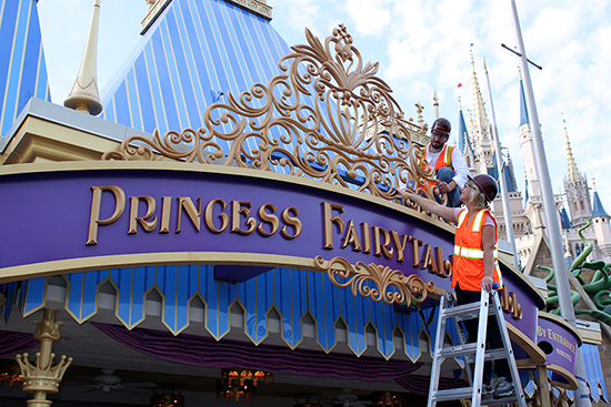 Princess Fairytale Hall Marquee is Unveiled at Magic Kingdom Park