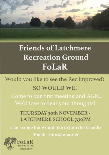 Friends of Latchmere Rec Poster 2017 to encourage community engagement