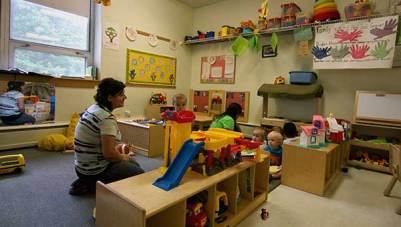 An image of an infant and toddler classroom