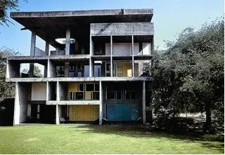 Le Corbusier, Shondan House, 1956. Ahmedabad, Gujarat, India.